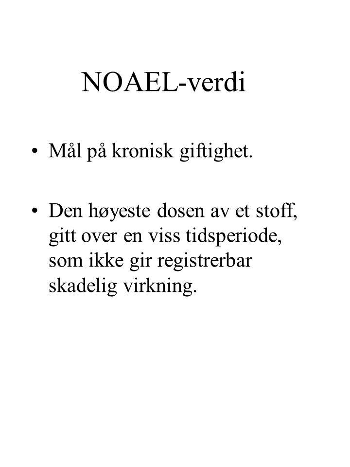 NOAEL-verdi Mål på kronisk giftighet.