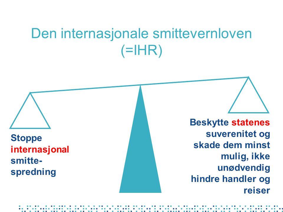 Den internasjonale smittevernloven (=IHR)