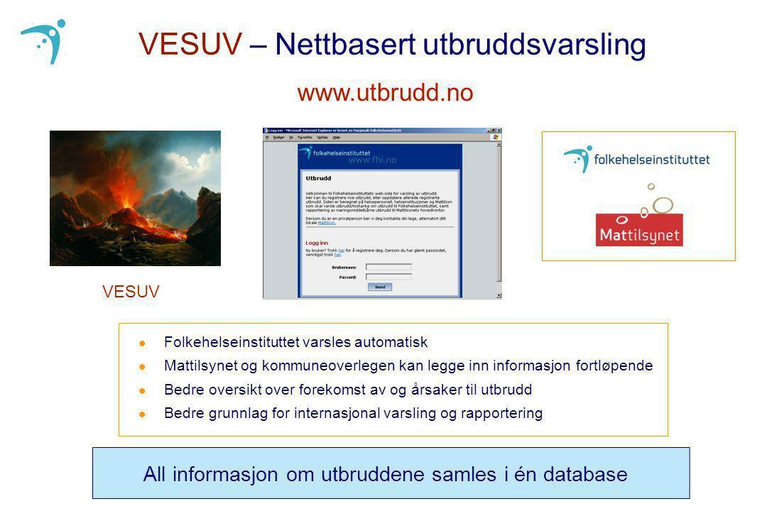 VESUV – Nettbasert utbruddsvarsling