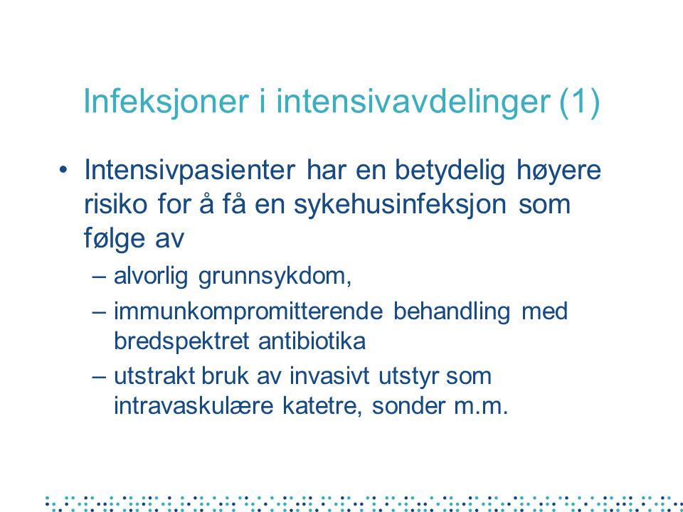 Infeksjoner i intensivavdelinger (1)