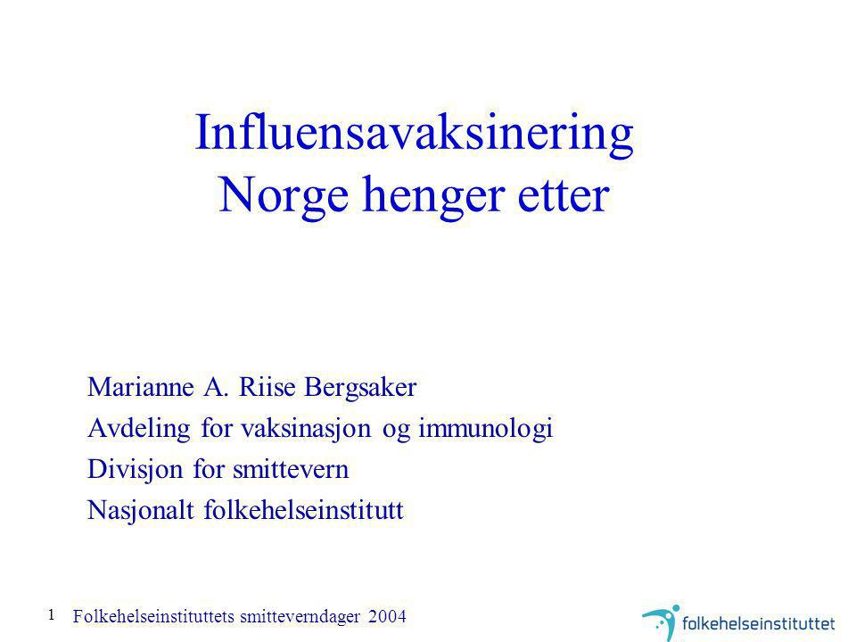Influensavaksinering Norge henger etter
