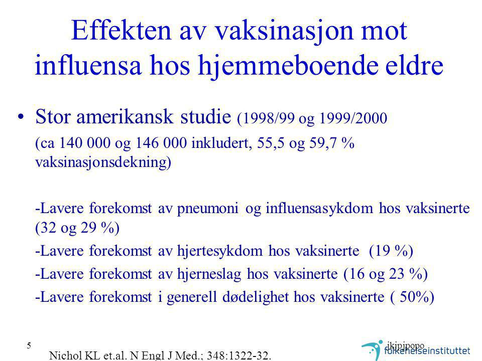 Effekten av vaksinasjon mot influensa hos hjemmeboende eldre