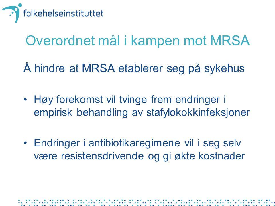 Overordnet mål i kampen mot MRSA