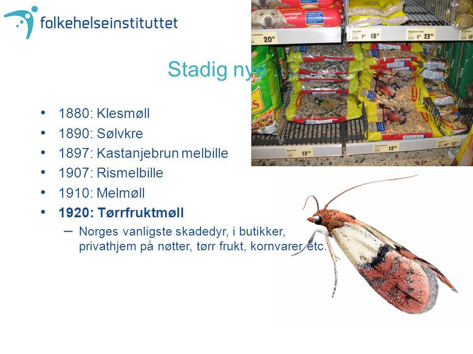 Stadig nye ….. 1880: Klesmøll 1890: Sølvkre
