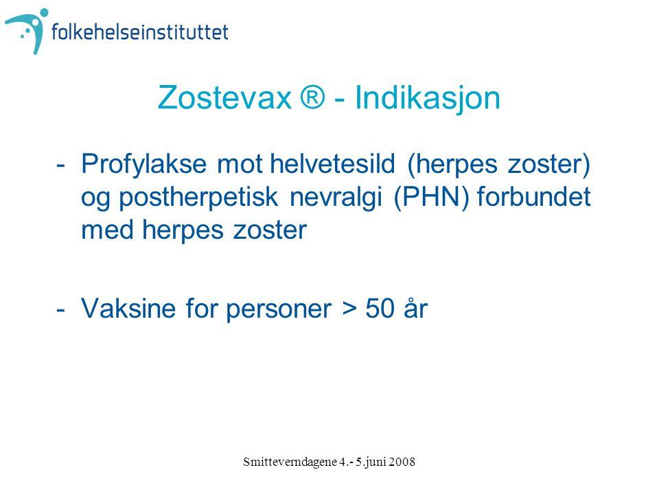 Zostevax ® - Indikasjon