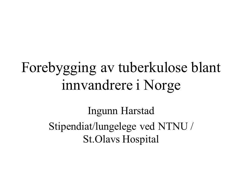 Forebygging av tuberkulose blant innvandrere i Norge
