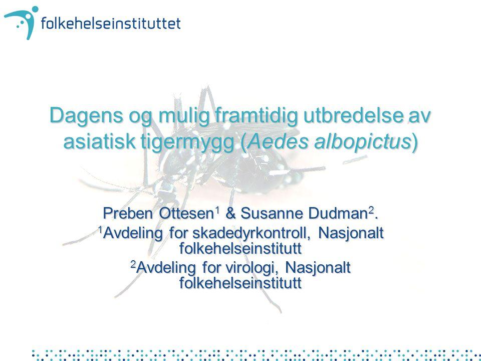 Dagens og mulig framtidig utbredelse av asiatisk tigermygg (Aedes albopictus)