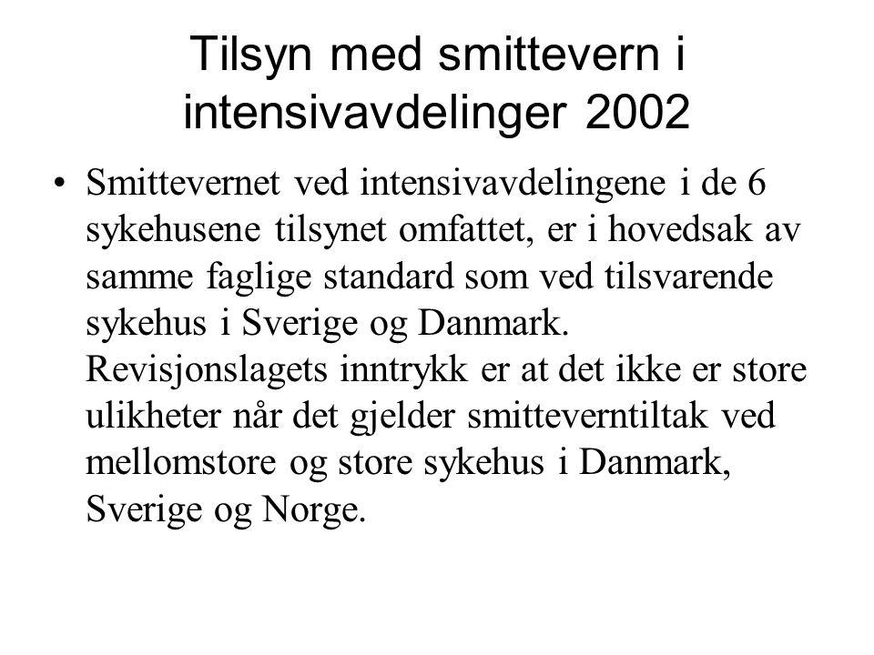 Tilsyn med smittevern i intensivavdelinger 2002