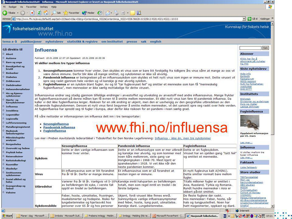 www.fhi.no/influensa