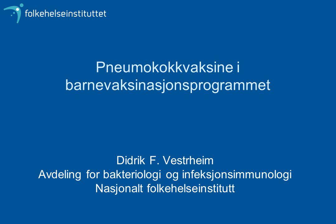 Pneumokokkvaksine i barnevaksinasjonsprogrammet