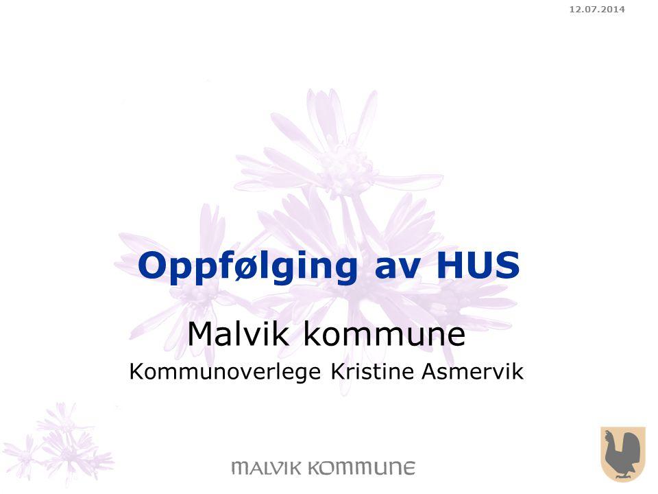 Malvik kommune Kommunoverlege Kristine Asmervik