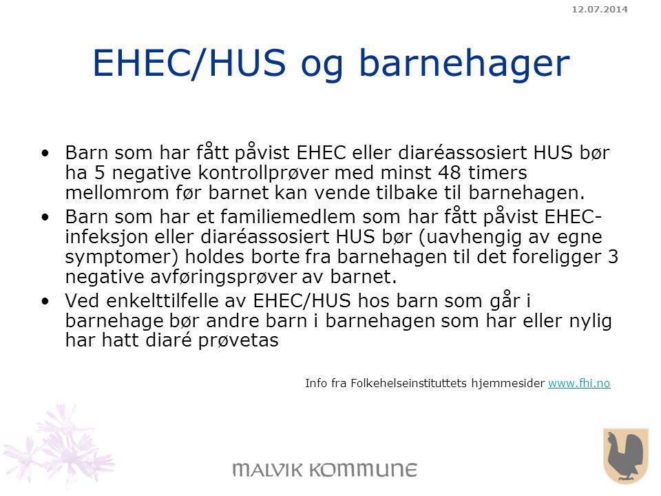 EHEC/HUS og barnehager