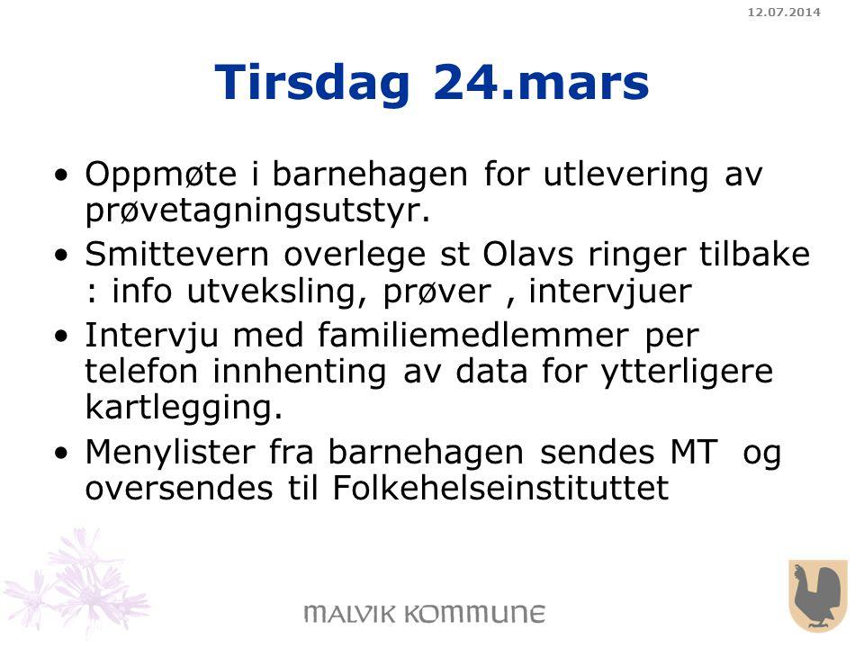 04.04.2017 Tirsdag 24.mars. Oppmøte i barnehagen for utlevering av prøvetagningsutstyr.