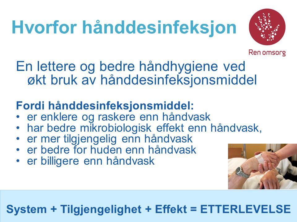 Hvorfor hånddesinfeksjon