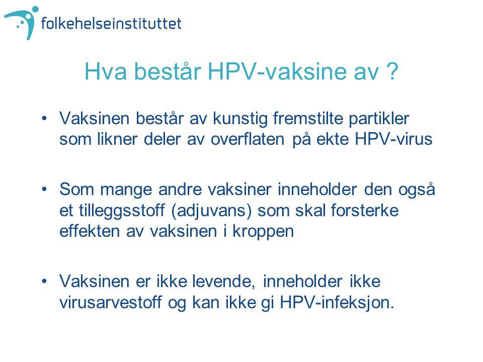 Hva består HPV-vaksine av
