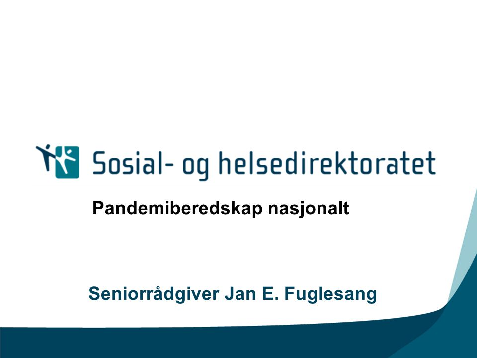 Seniorrådgiver Jan E. Fuglesang