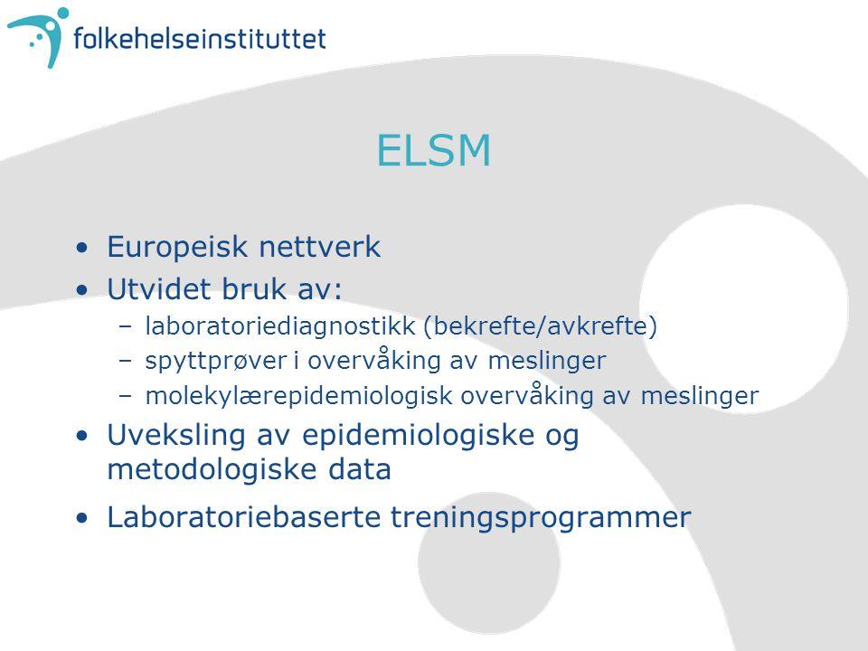 ELSM Europeisk nettverk Utvidet bruk av: