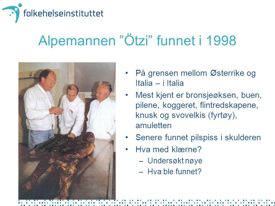 Alpemannen Ötzi funnet i 1998