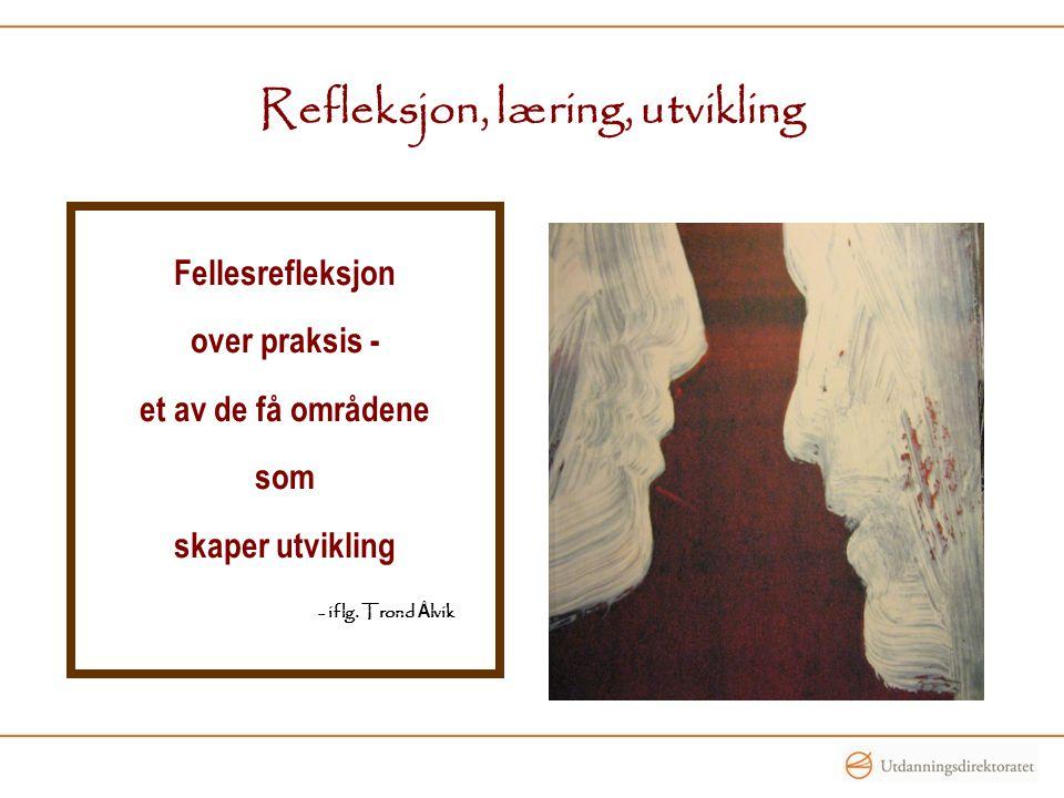 Refleksjon, læring, utvikling