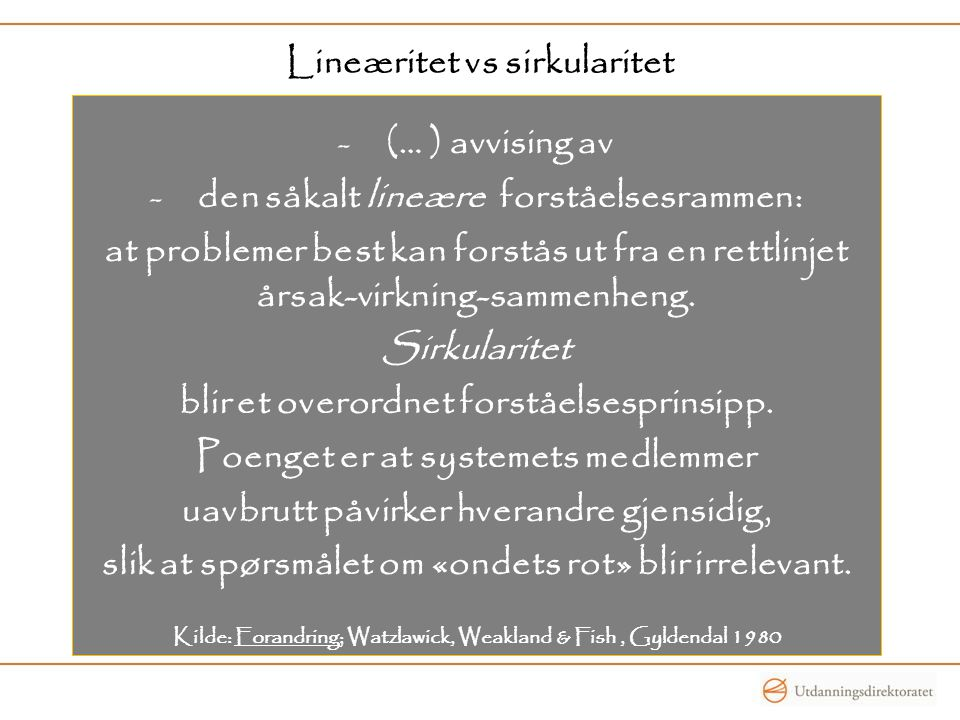 Lineæritet vs sirkularitet