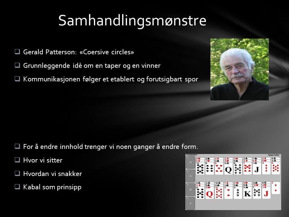 Samhandlingsmønstre Gerald Patterson: «Coersive circles»