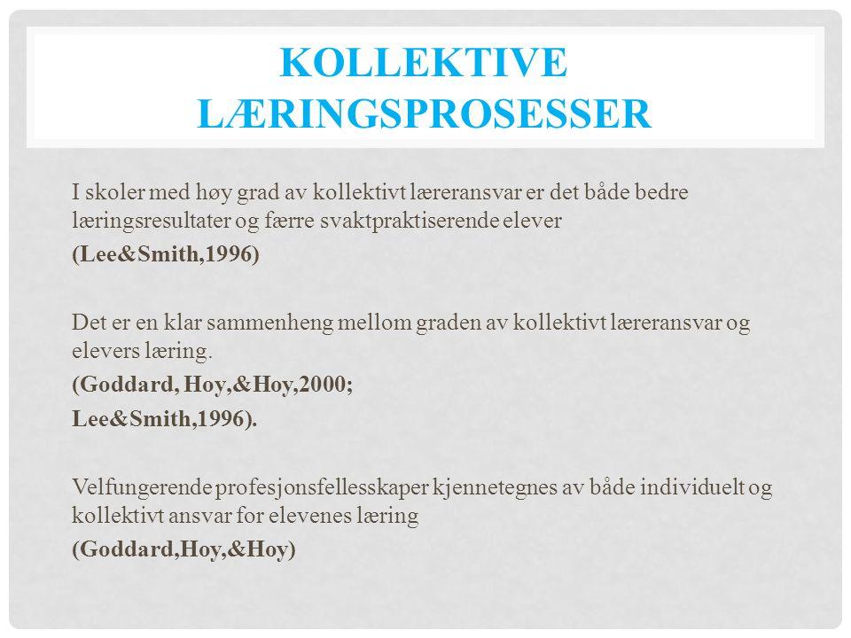 Kollektive læringsprosesser