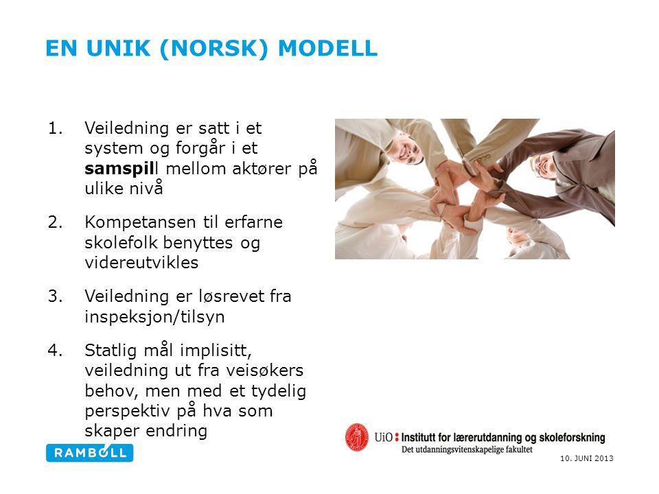 En unik (norsk) modell Veiledning er satt i et system og forgår i et samspill mellom aktører på ulike nivå.