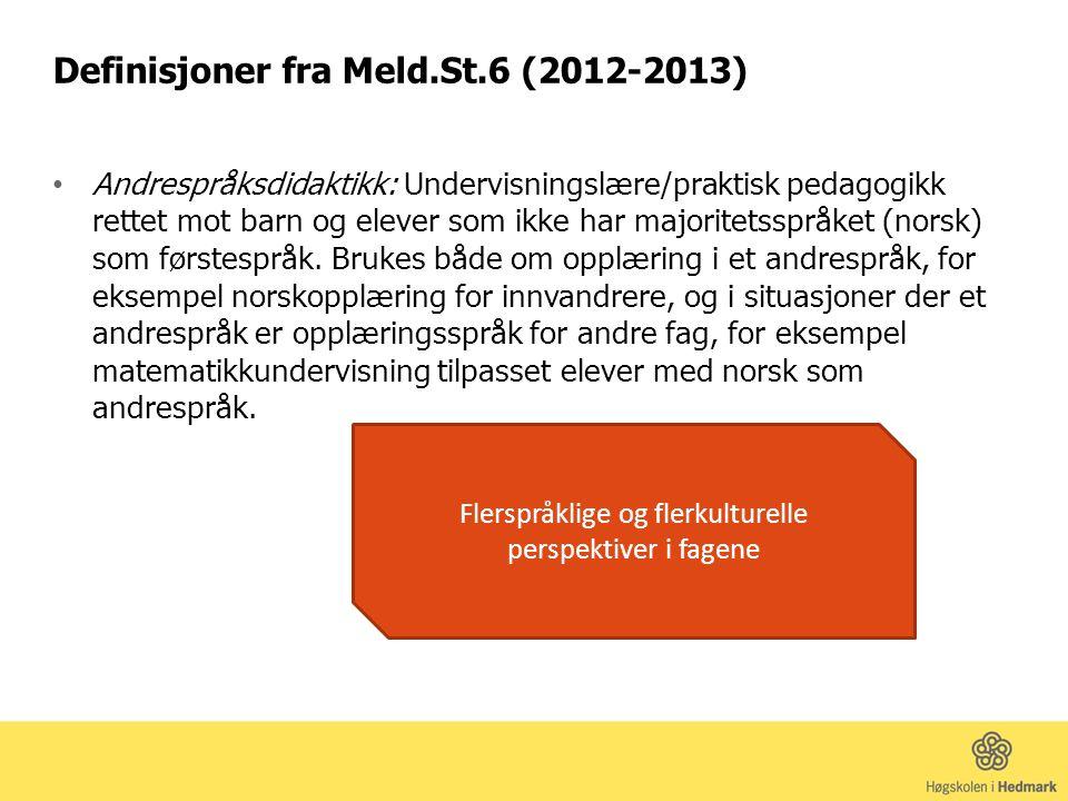 Definisjoner fra Meld.St.6 (2012-2013)
