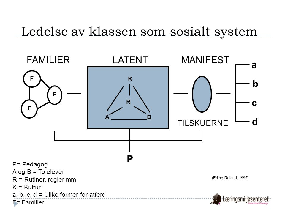 Ledelse av klassen som sosialt system