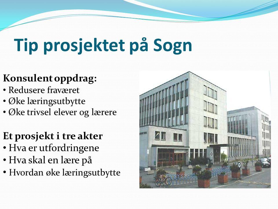 Tip prosjektet på Sogn Konsulent oppdrag: Et prosjekt i tre akter