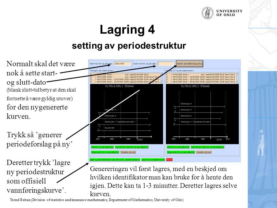 Lagring 4 setting av periodestruktur
