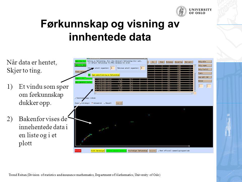 Førkunnskap og visning av innhentede data