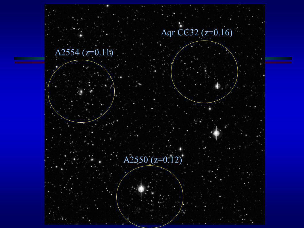 A2554 Aqr CC32 (z=0.16) A2554 (z=0.11) A2550 (z=0.12)