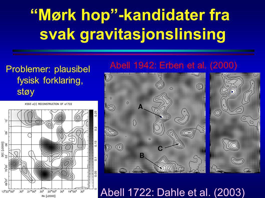 Mørk hop -kandidater fra svak gravitasjonslinsing