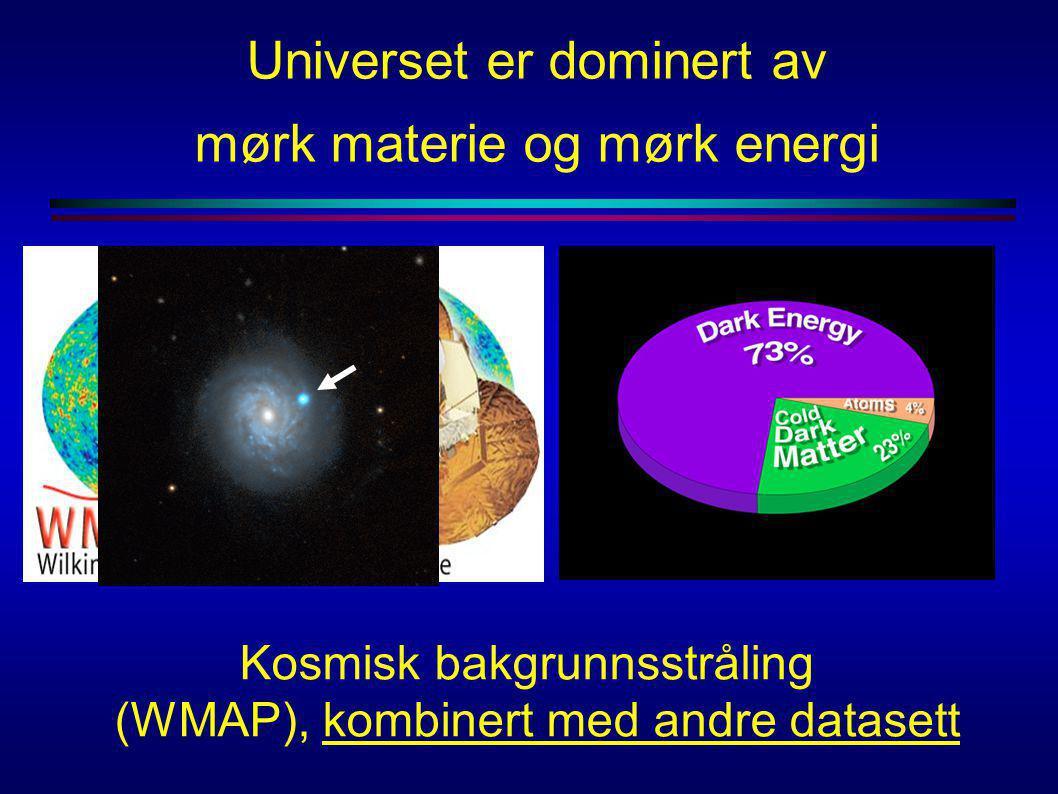 Kosmisk bakgrunnsstråling (WMAP), kombinert med andre datasett