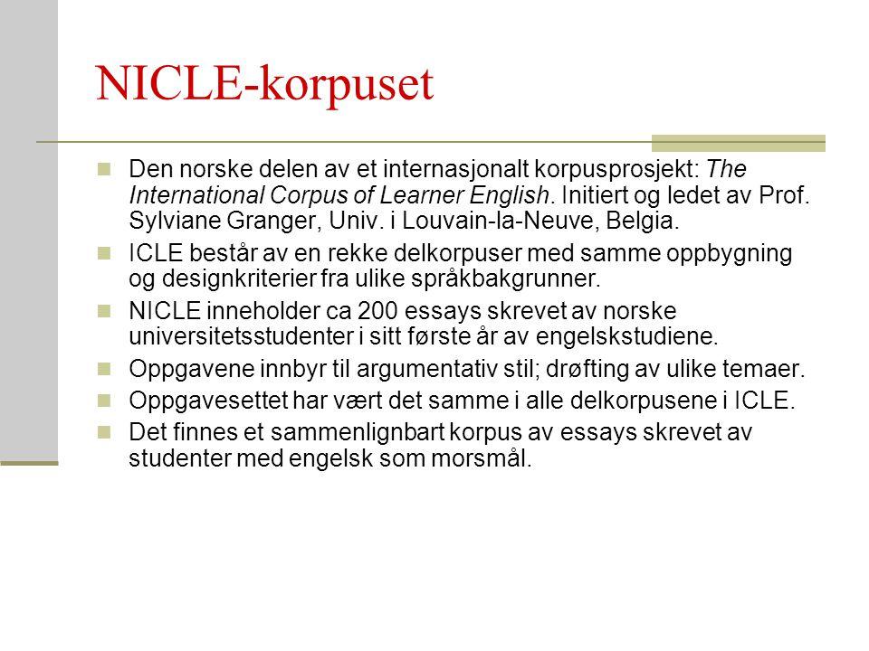 NICLE-korpuset