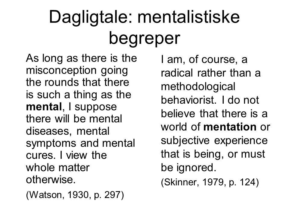 Dagligtale: mentalistiske begreper