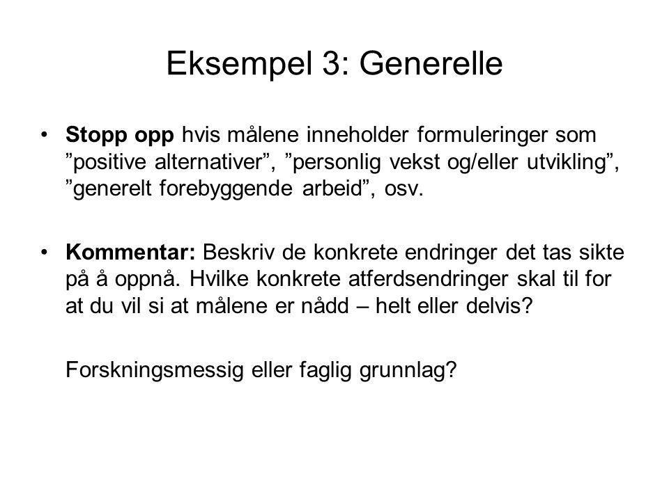 Eksempel 3: Generelle