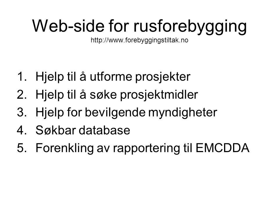 Web-side for rusforebygging http://www.forebyggingstiltak.no