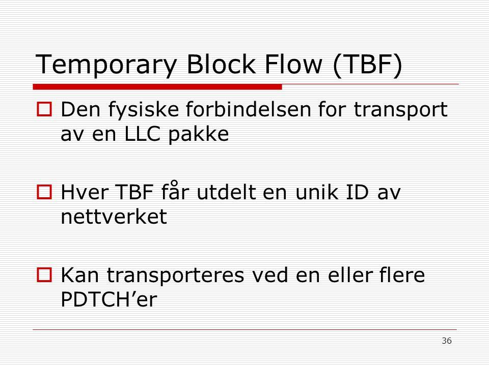 Temporary Block Flow (TBF)