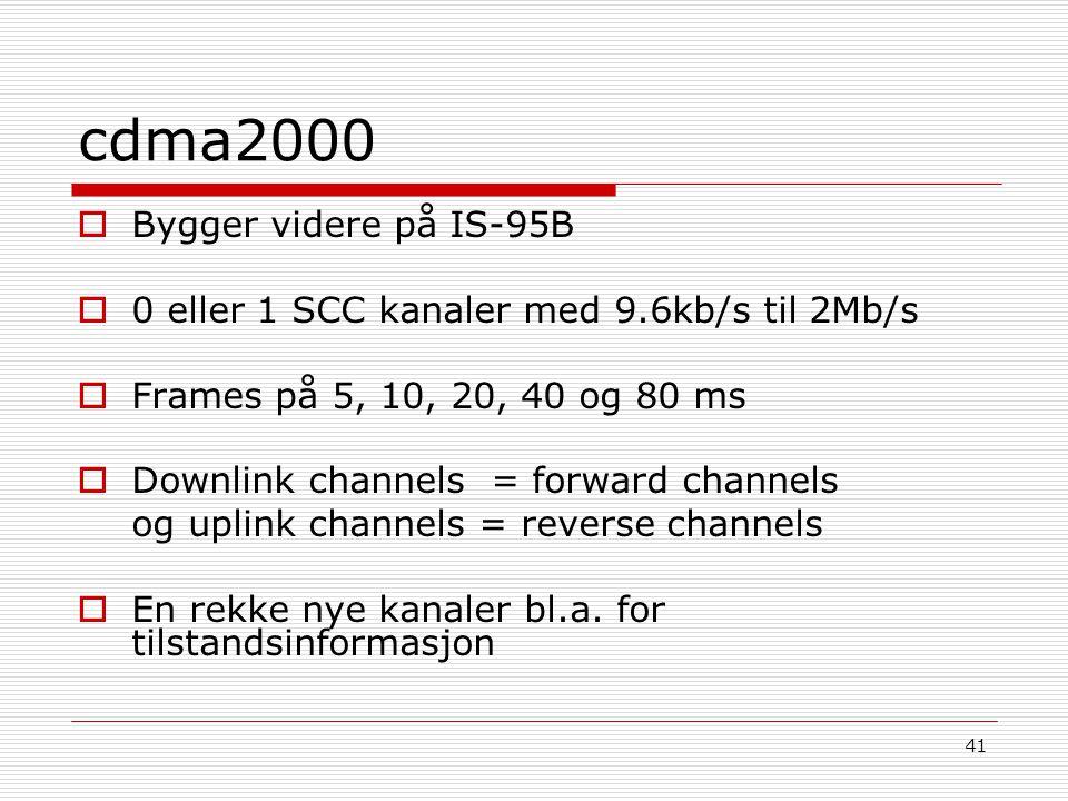 cdma2000 Bygger videre på IS-95B