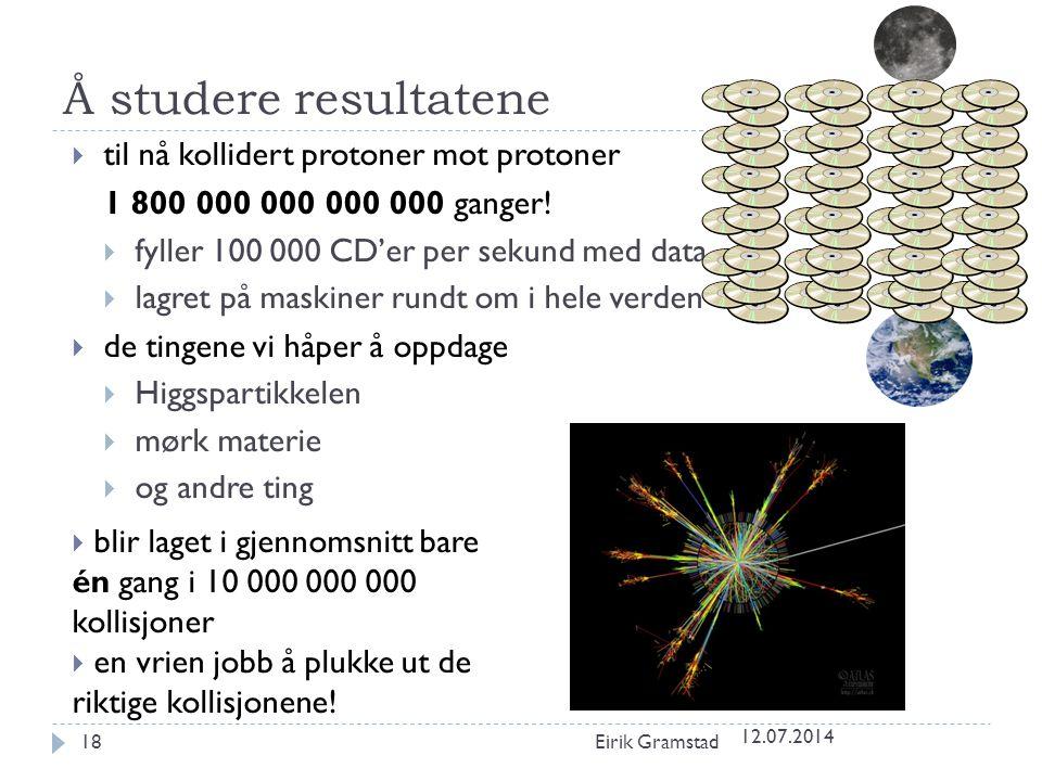 Å studere resultatene til nå kollidert protoner mot protoner
