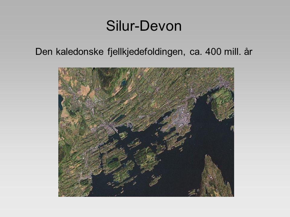 Den kaledonske fjellkjedefoldingen, ca. 400 mill. år