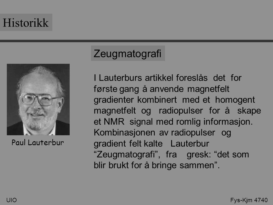 Historikk Zeugmatografi