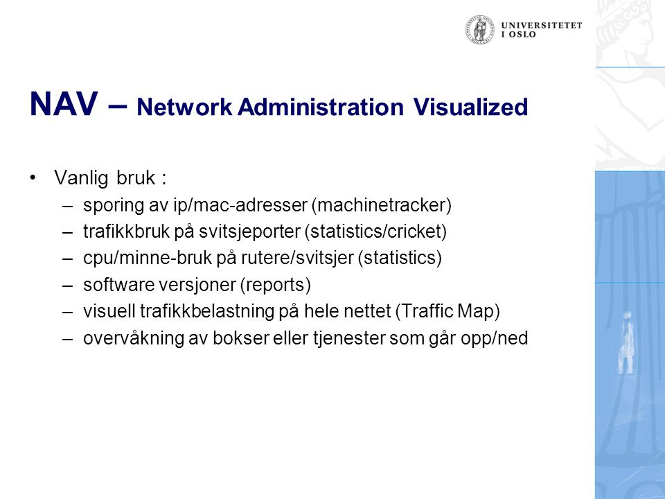 NAV – Network Administration Visualized