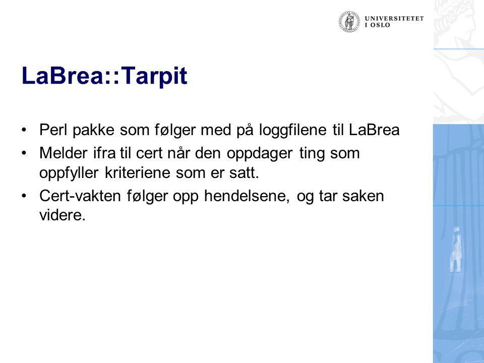 LaBrea::Tarpit Perl pakke som følger med på loggfilene til LaBrea