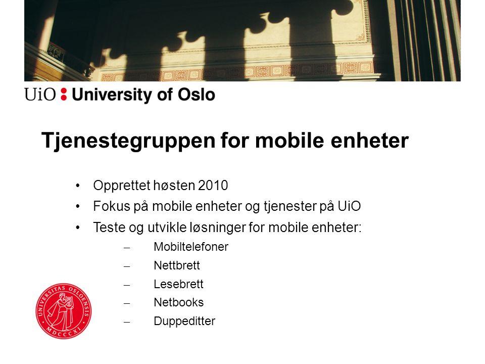 Tjenestegruppen for mobile enheter