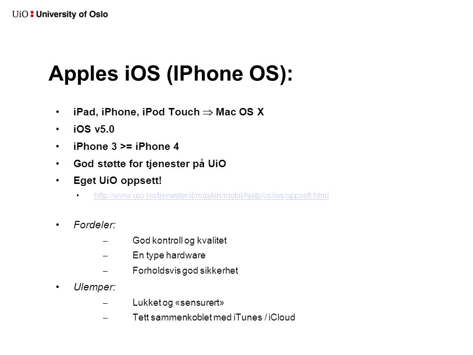 Apples iOS (IPhone OS):