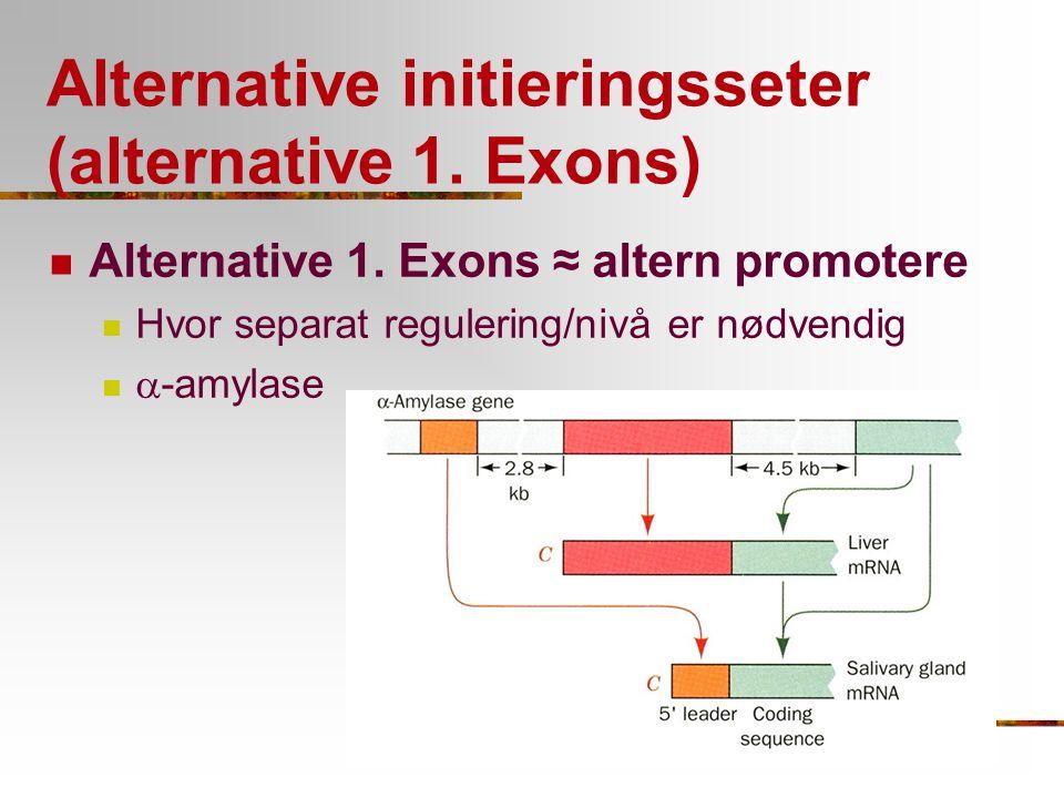 Alternative initieringsseter (alternative 1. Exons)