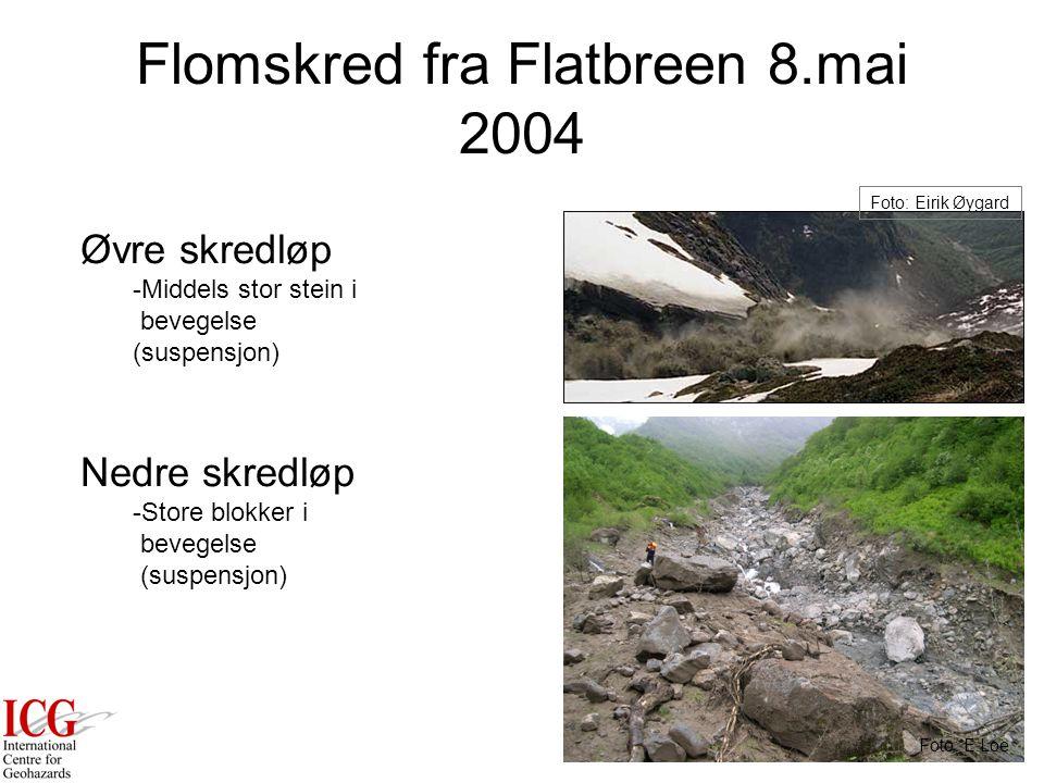 Flomskred fra Flatbreen 8.mai 2004